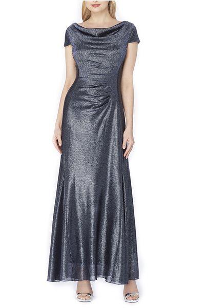 Tahari - Metallic Foil Gown - Silver