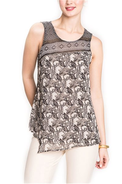 Nic + Zoe - Mirrored Monkeys Tank - Multi