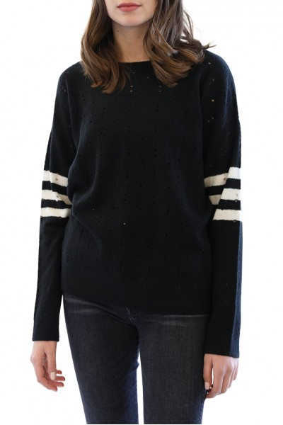 Central Park West - Greenwich Ave Crew Neck - Black