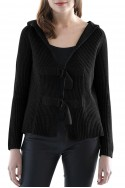 Central Park West - Lombard St. Cardigan - Black