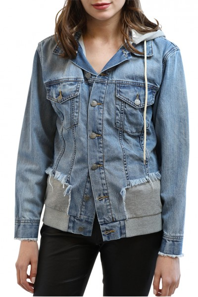 Central Park West - St Vicenti Denim Jacket - Denim Grey