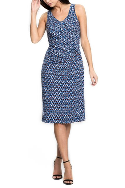 Nic + Zoe - Triangle Tiles Dress - Multi