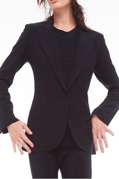 Norma Kamali - Single Breasted Jacket Bonded - Black