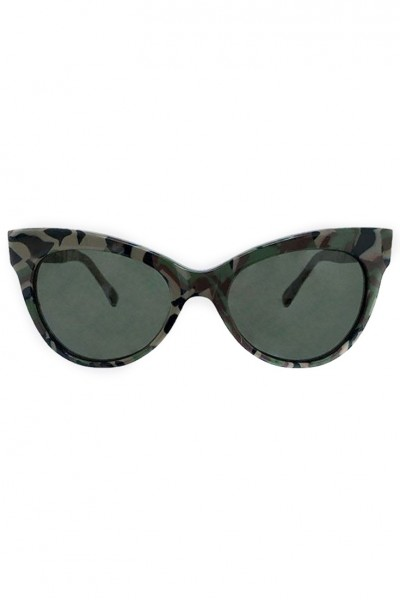 Norma Kamali - Square Cat Eye Sunglasses - Camo
