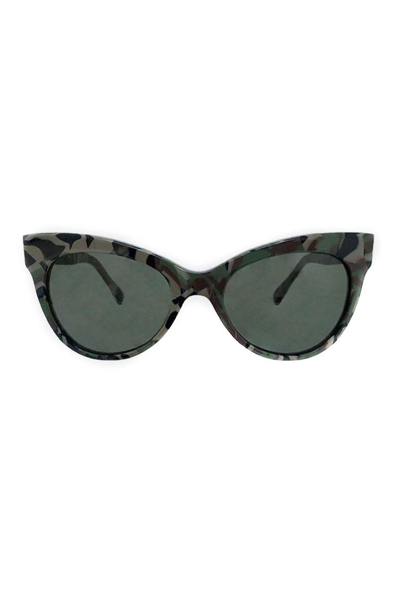 Norma Kamali - Square Cat Eye Sunglasses - Camo