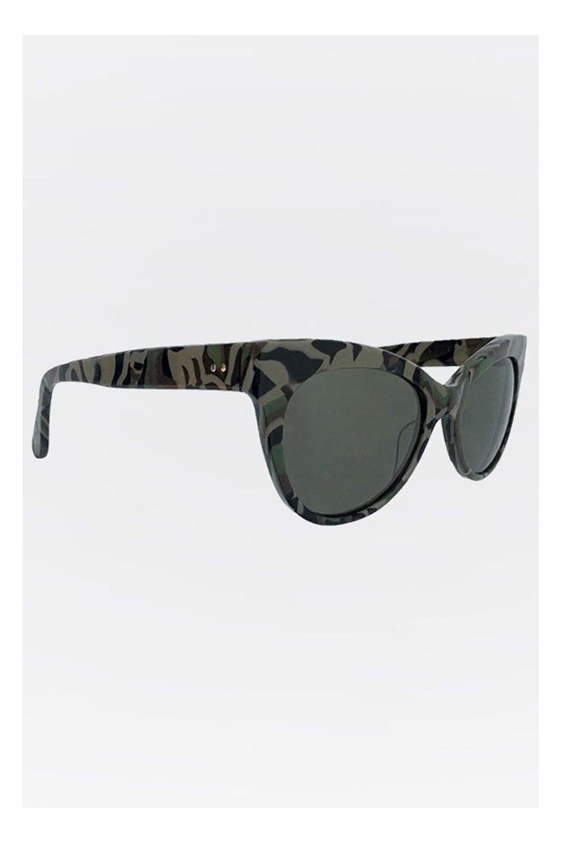 05c4bc29ceff Norma Kamali - Square Cat Eye Sunglasses - Camo