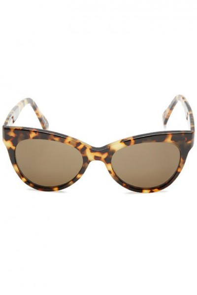 Norma Kamali - Square Cat Eye Sunglasses - Tortoise