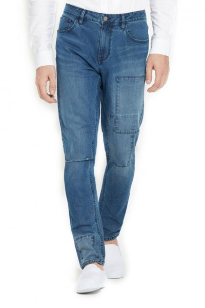 Waven - Mens Valtar Drop Crotch Skinny Jeans - Peel Blue