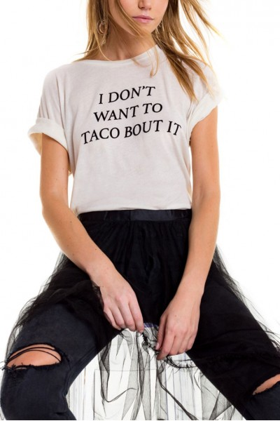 Wildfox - Taco Talk Sonic Tee - Vintage Lace