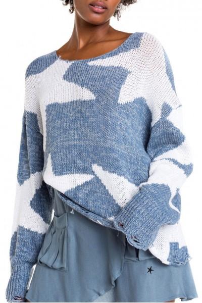 Wildfox - Lucky Stars Phantom Sweater - Vision Blue