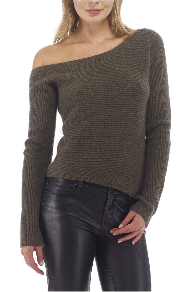 raffi one shoulder sweater black. Black Bedroom Furniture Sets. Home Design Ideas