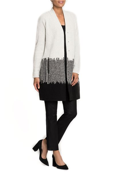 Nic + Zoe - Blocked Stripes Jacket - Chalk