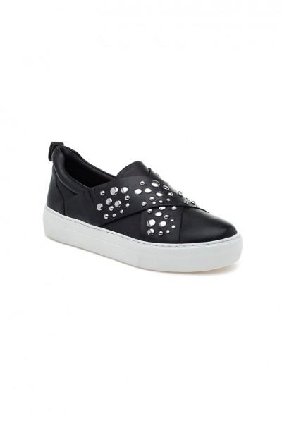 J/Slides - Anteek - Black Leather