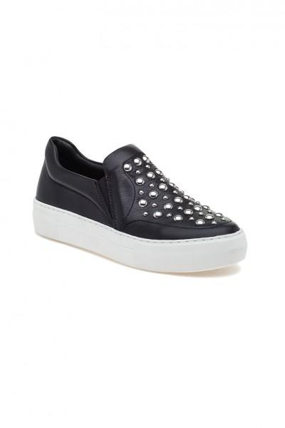 J/Slides - Atom - Black Leather