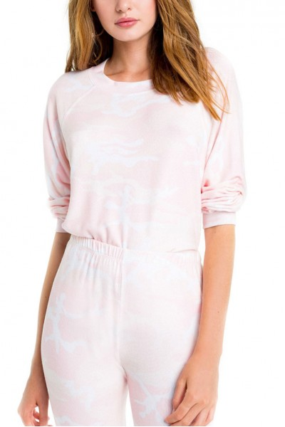 Wildfox - Blush Camo Sommers Sweater - Multi
