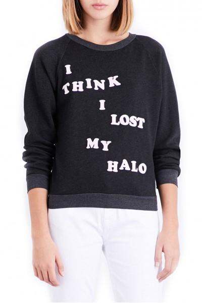 Wildfox - I Think I Lost My Halo Sweatshirt - Heather Black