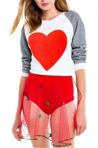 Wildfox - Perfect Heart Junior Sweatshirt - Clean White