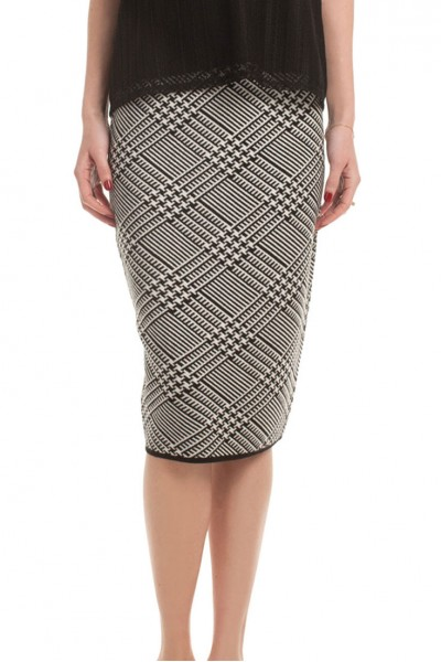 Trina Turk - Robertson Skirt - Black/Whitewash