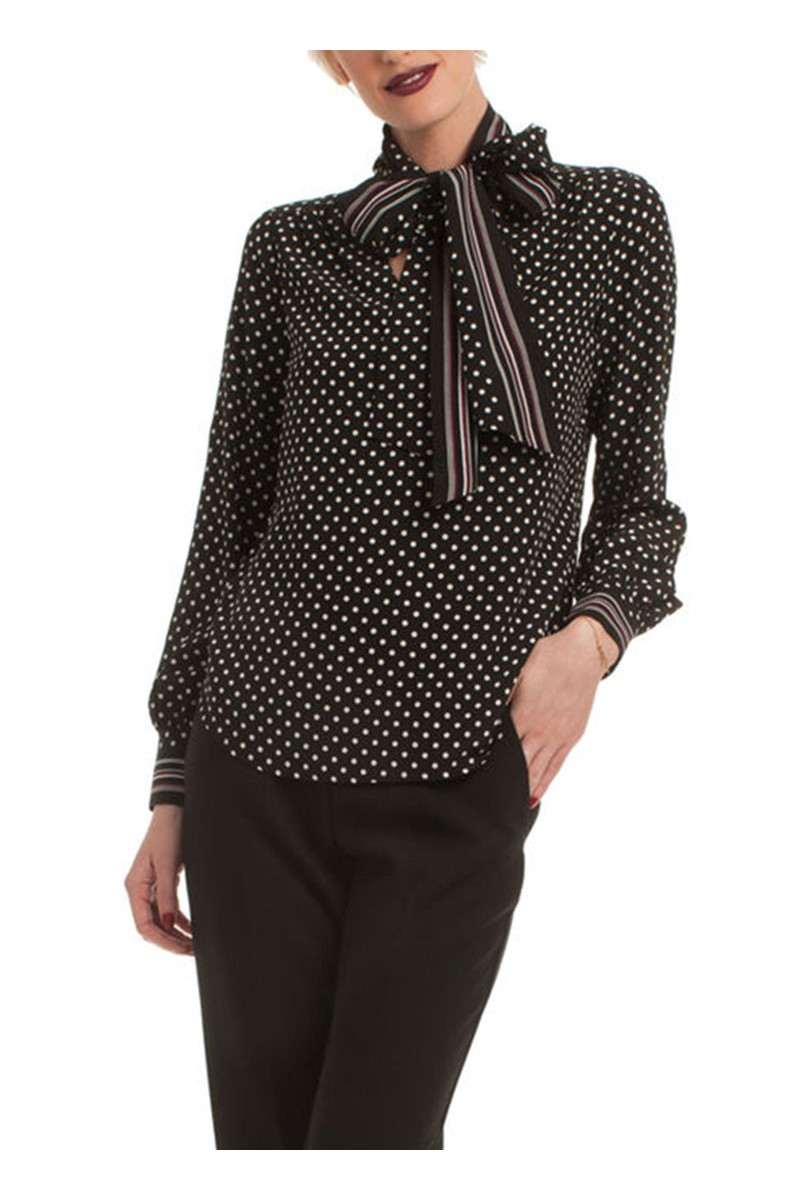 Trina Turk - Demming Top - Black/Ecru