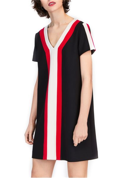 Tara Jarmon - Striped Shift Dress - Black