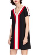 Tara Jarmon - Striped Shift Dress - Black