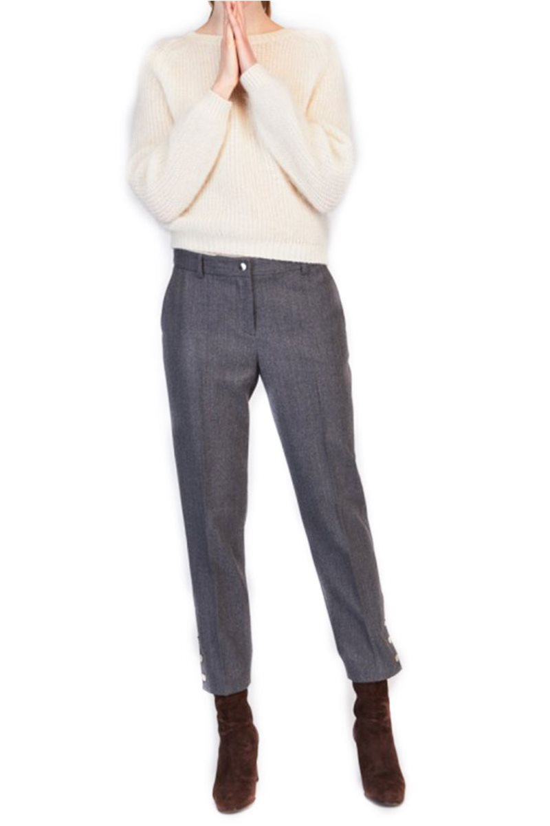 Tara Jarmon - Wool Cropped Trousers - Gray