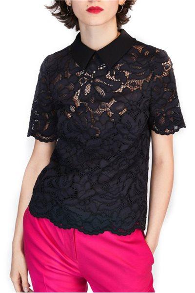 Tara Jarmon - Lace Top - Black