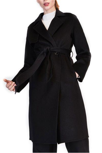 Tara Jarmon - Wool Trench Coat - Black