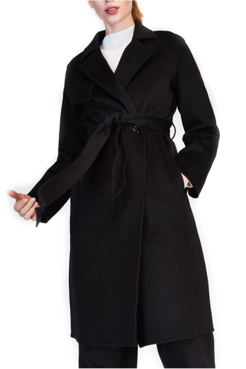 28736cb0c1 Tara Jarmon - Wool Trench Coat - Black