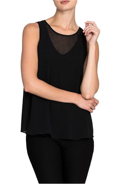 Nic + Zoe - Sheer Collections Top - Black Onyx