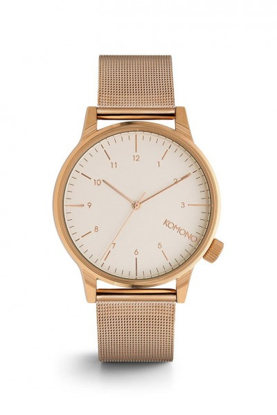 Komono - Men's Winston Royale - Rose Gold/White