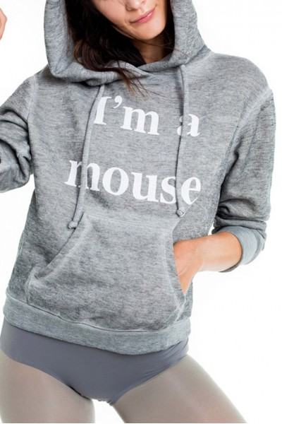 Wildfox - I'm A Mouse Cuddles Mouse Hoodie - Heather