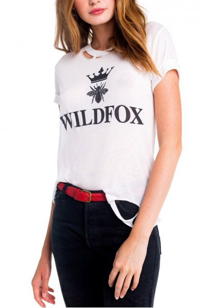 Wildfox - Alchemy Destroyed Seer Tee - Clean White