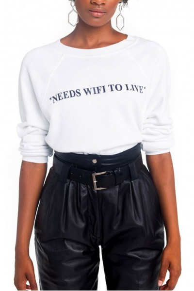 Wildfox - Needs Wifi Sommers Sweater - Clean White
