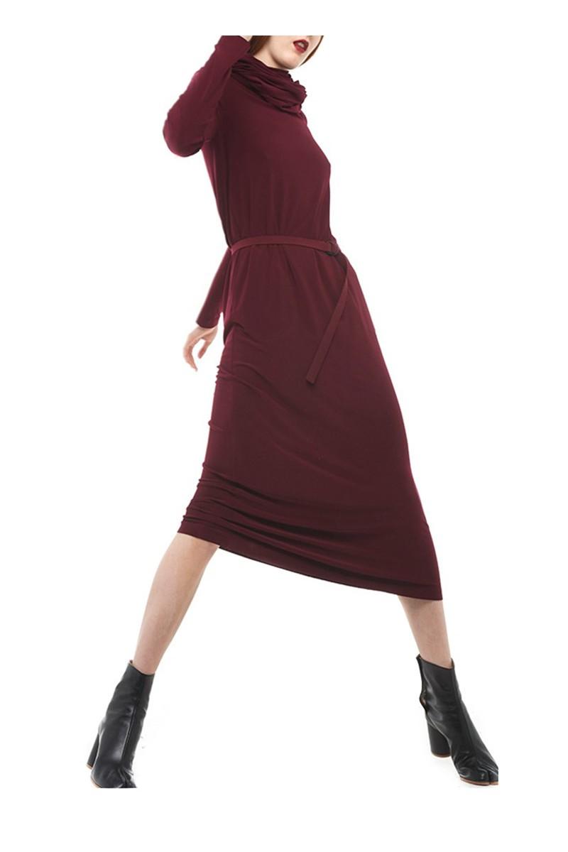 Norma kamali oversized turtleneck midcalf plum - Norma kamali costumi da bagno ...