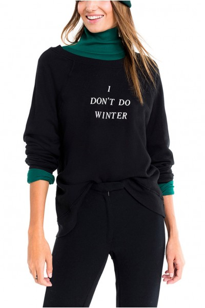 Wildfox - I Don't Do Winter Sommers Sweater - Black