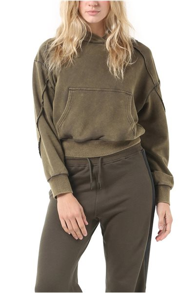 Publish Brand - Kim Women's Hoodie Pullover - Vintage - Olive