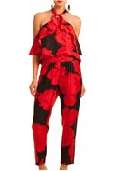 Trina Turk - Rosey Pant - Red