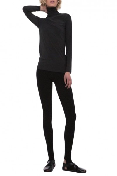 Norma Kamali - Leggings With Footie - Black