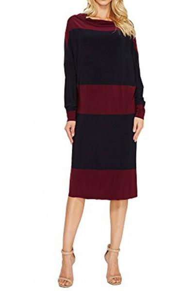 Norma Kamali - Spliced All in One Dress - Midnight/Plum
