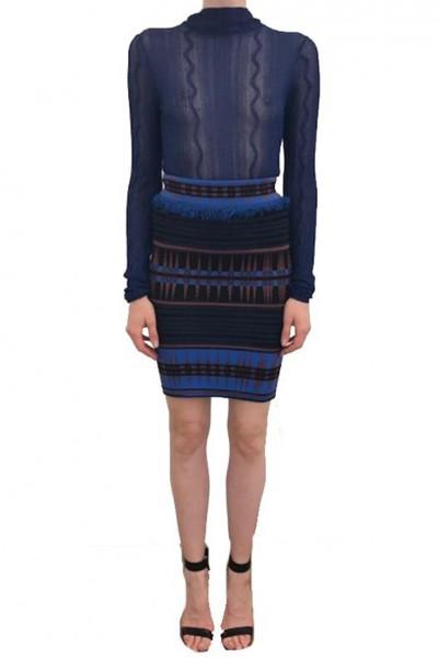 Ronny Kobo - Ayala Skirt - Blue Combo