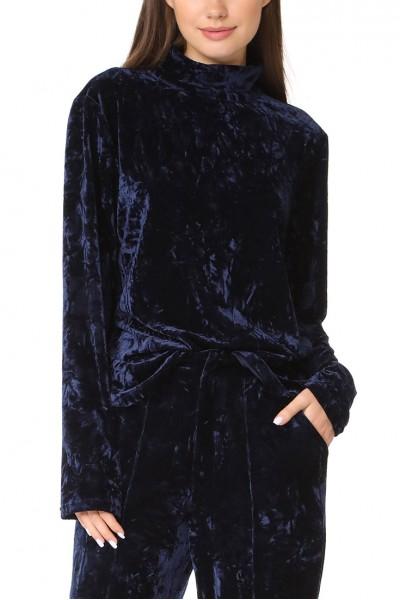 Ronny Kobo - Raelynne Top - Blue Combo Velvet