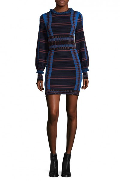 Ronny Kobo - Natanya Dress - Blue Combo