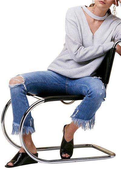 LNA - Ablaze Sweatshirt - Heather Grey