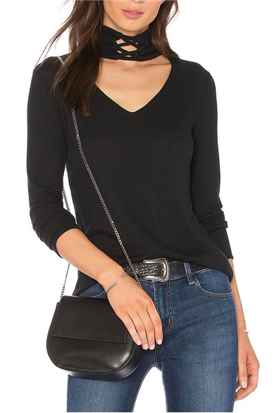 LNA - Laced Up Turtleneck -Black