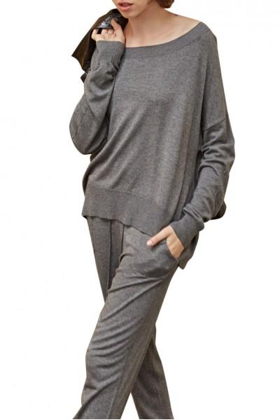 Sack's - Sanna Knit Sweater - Grey Melange