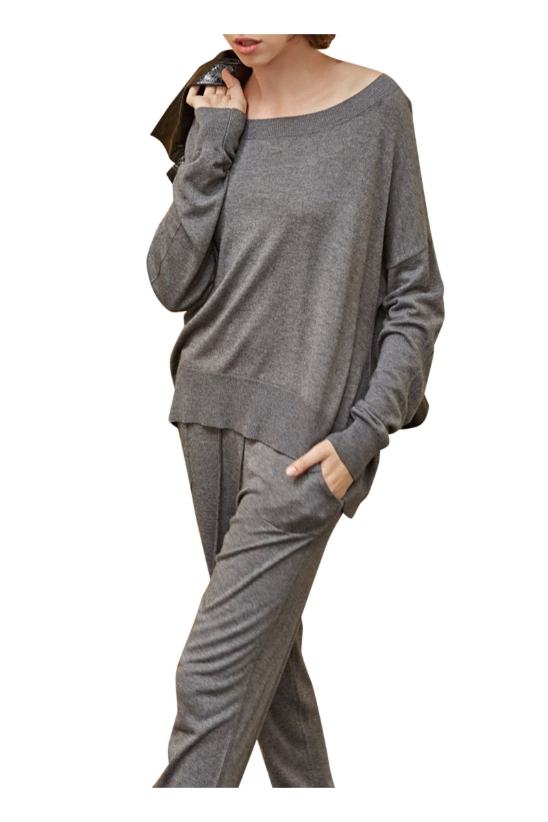 Sack's - Sanna Knit Sweater - Grey Melange