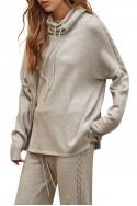 Sack's - Tomi CabelknitT Sweater - Grey Melange