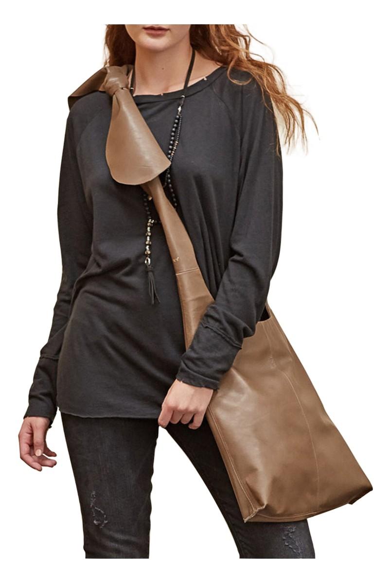 Sack's - Lan Cot/Linen Raglan T-Shirt - Black