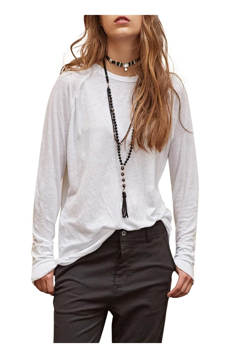 Sack's - Lan Cot/Linen Raglan T-Shirt - White